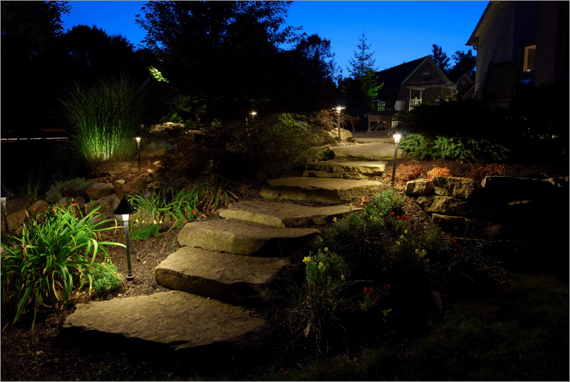 Landscape lighting techniques pauls electric service landscape lighting aloadofball Choice Image