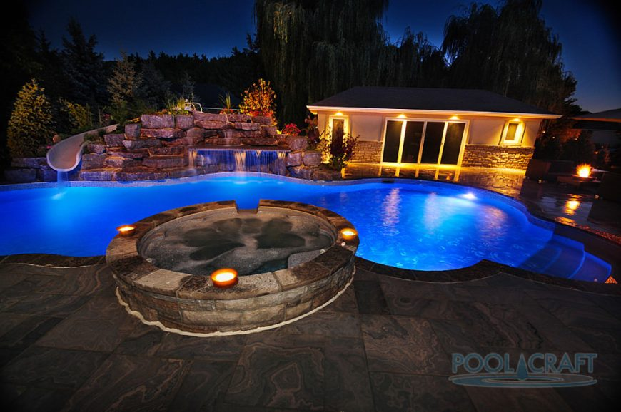 In Ground Swimming Pool Lighting Ideas